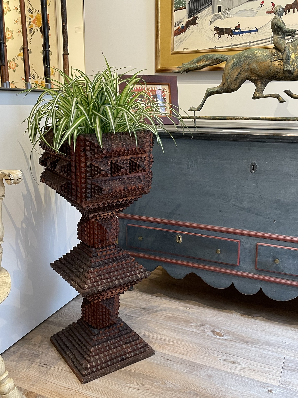 tramp art plant stands rel=
