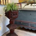 tramp art plant stands