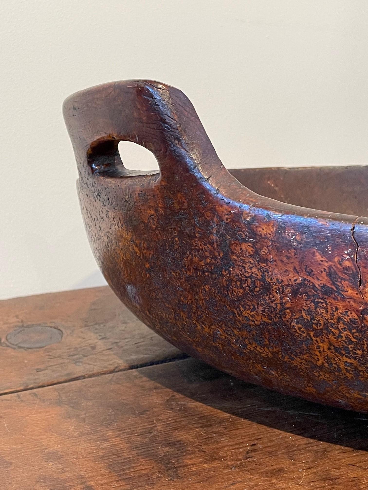 early american burlwood bowl rel=