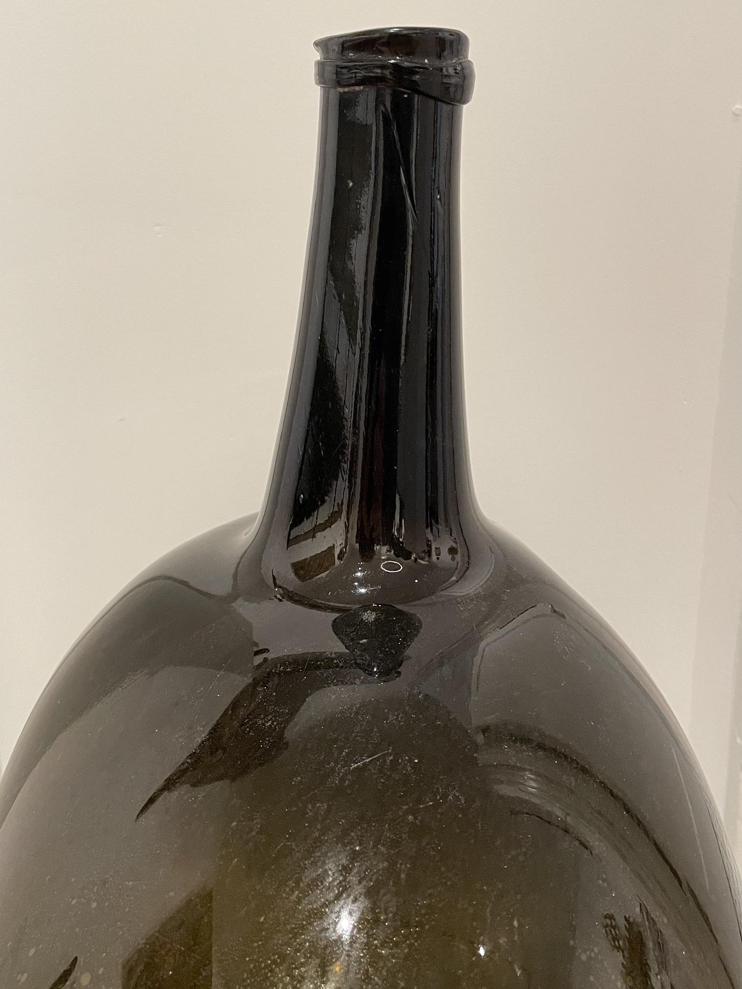 large antique glass demijohn rel=