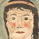 american folk watercolor portrait