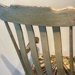 american decorated rocking chair
