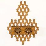 antique lattice-work wall pocket
