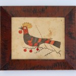 antique southern bird fraktur