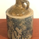 midwestern glazed stoneware jug