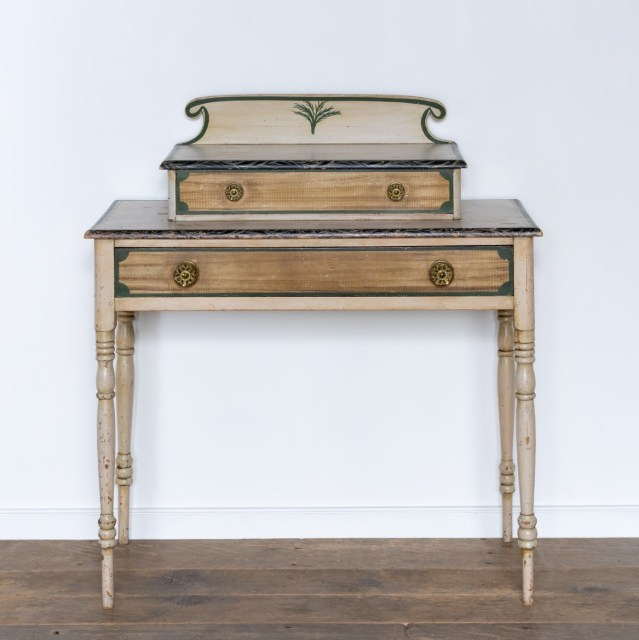 folk painted dressing table