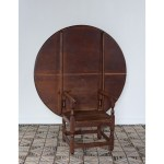 American primitive chair table