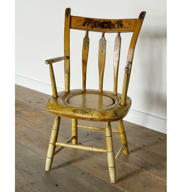 painted child's windsor chair