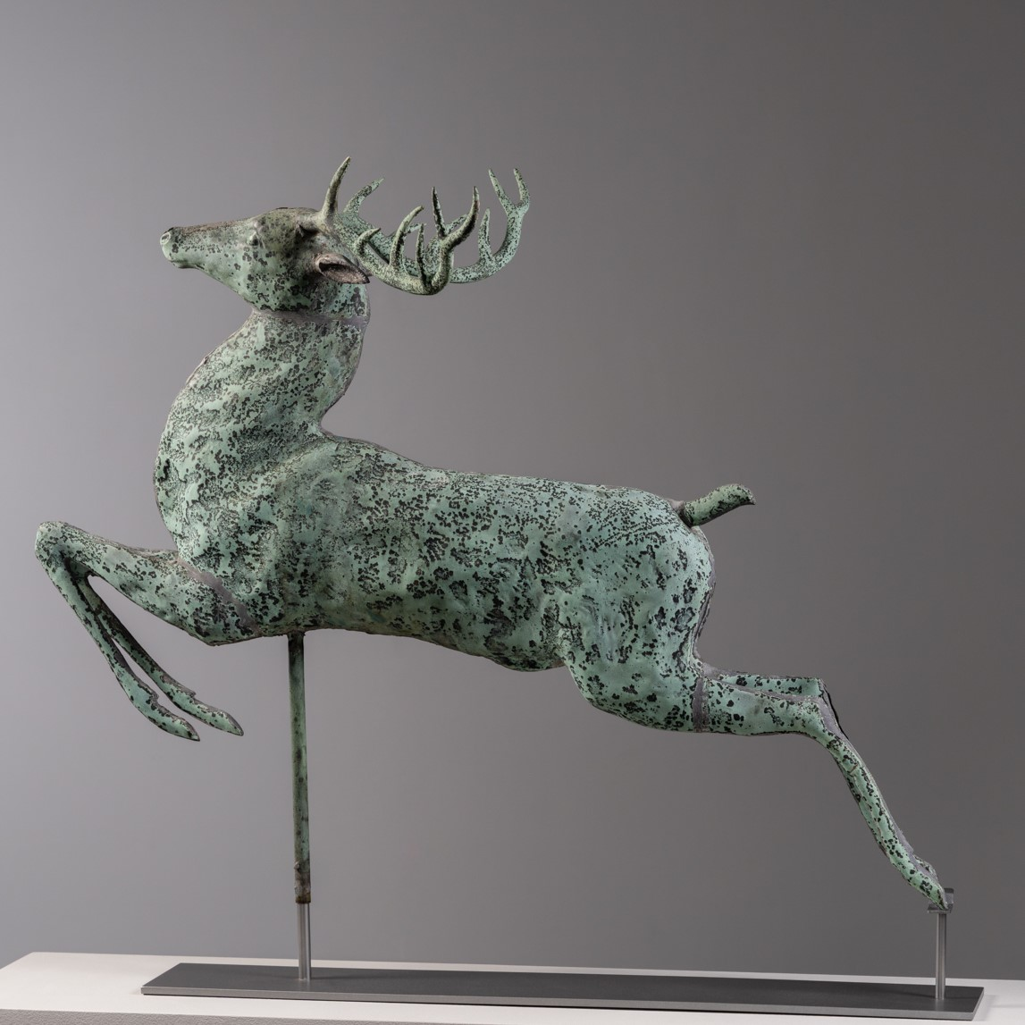 antique leaping stag weathervane rel=