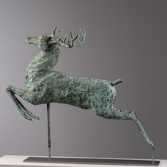antique leaping stag weathervane