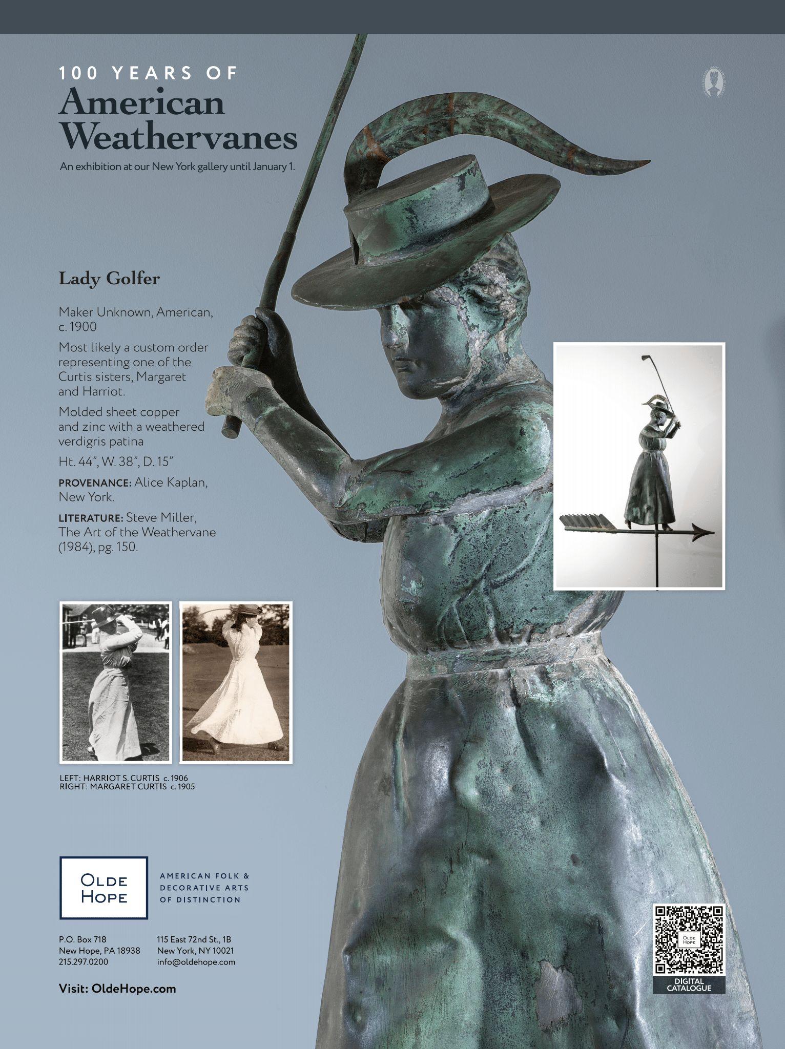 Maine Antiques Digest Lady Golfer