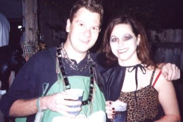 Henry Malmgren and Brandi Kovalski celebrate Halloween.