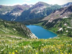 Snowmass Lake from above.