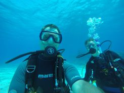 Darcie's first certified dive!