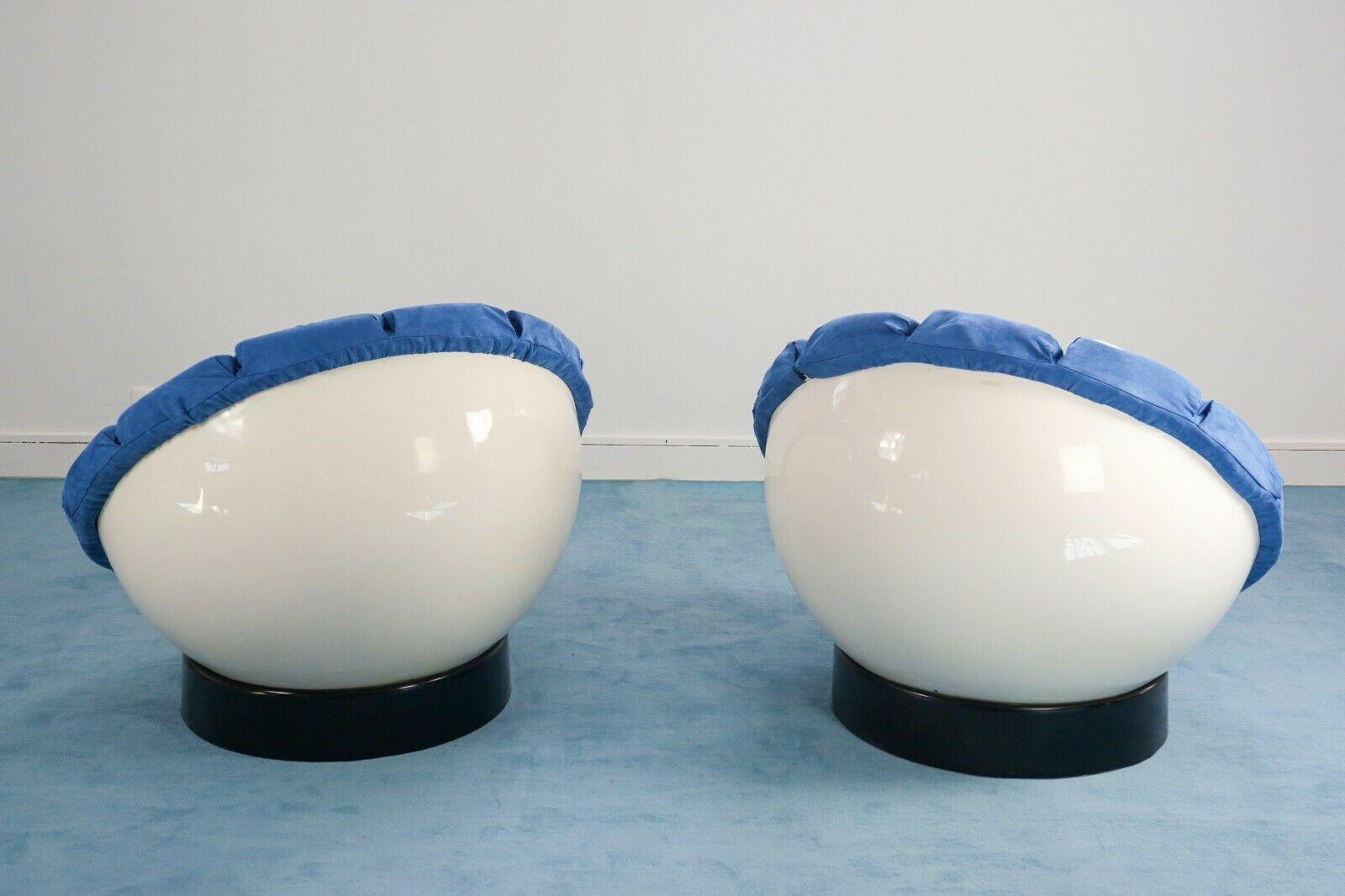 Coppia di poltrone anni 60 vintage reclinabili da rifoderare. Set Di Due Poltrone Girasole Luciano Frigerio Design Anni 60 Old Era