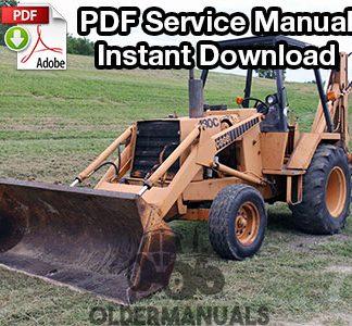 Case 480C Tractor Loader Backhoe Service Manual