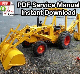 Case 580 Tractor Loader Backhoe & Forklift Service Manual ...  Case Backhoe Wiring Diagram Electrical on