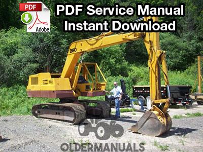 Case 880 Excavator Service Manual