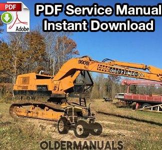Case 980B Excavator Service Manual PDF Download