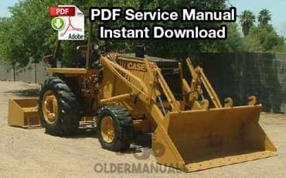 Case 480, 480CK Tractor Loader Backhoe Service Manual