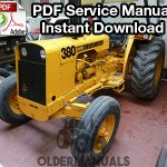 Case 380 General Purpose Tractor Service Manual