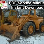 Case W9, W9A, W10, W12 Wheel Loader Service Manual
