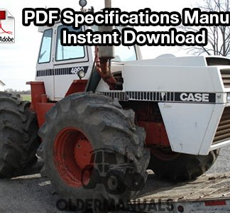 Case 30, 70, 90 Series Tractor Specifications Manual