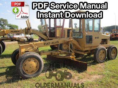 fiat allis m65 motor grader service manual complete fiat allis m65 motor grader service manual