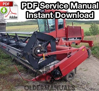 Case IH 6000, 6500 Windrower Swather Service Manual