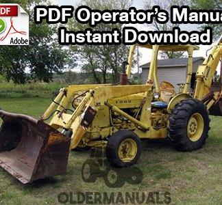 Ford 6500 Tractor Loader Backhoe Owner Operator's Manual