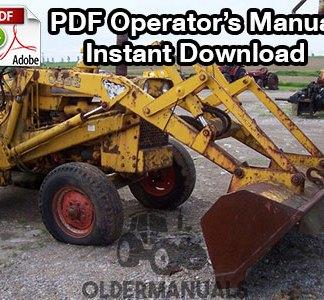 Case Model 31 Loader & Backhoe Operator's Manual