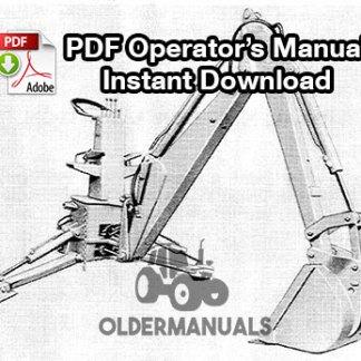 Case Model 32 Backhoe Operator's Manual