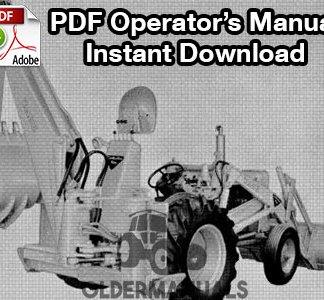 Case Model 32S Backhoe Operator's Manual