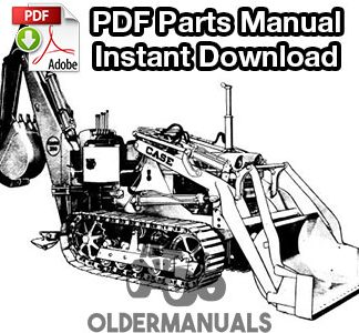 Case 310C Crawler Tractor Parts Manual