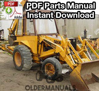 Case 580E, 580SE Tractor Loader Backhoe Service Manual