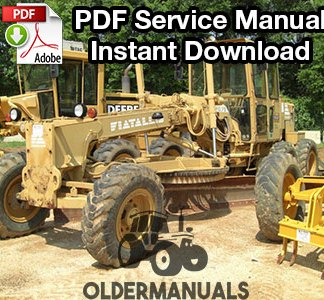 Fiat Allis FG75, FG85, FG95 Motor Grader Service Manual