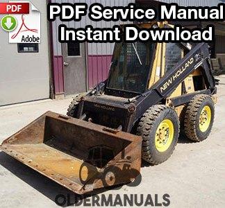 New Holland L781, L784, L785 Skid Steer Loader Service Manual