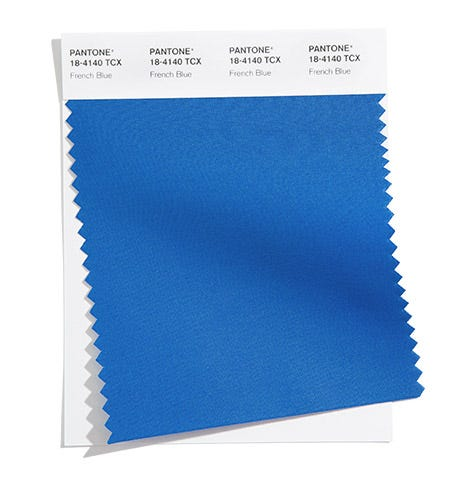 Pantone Color Swatch French Blue