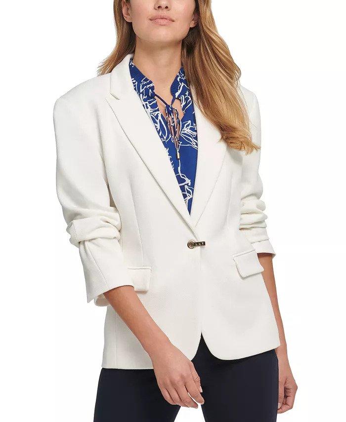 How to wear white - DKNY White Blazer