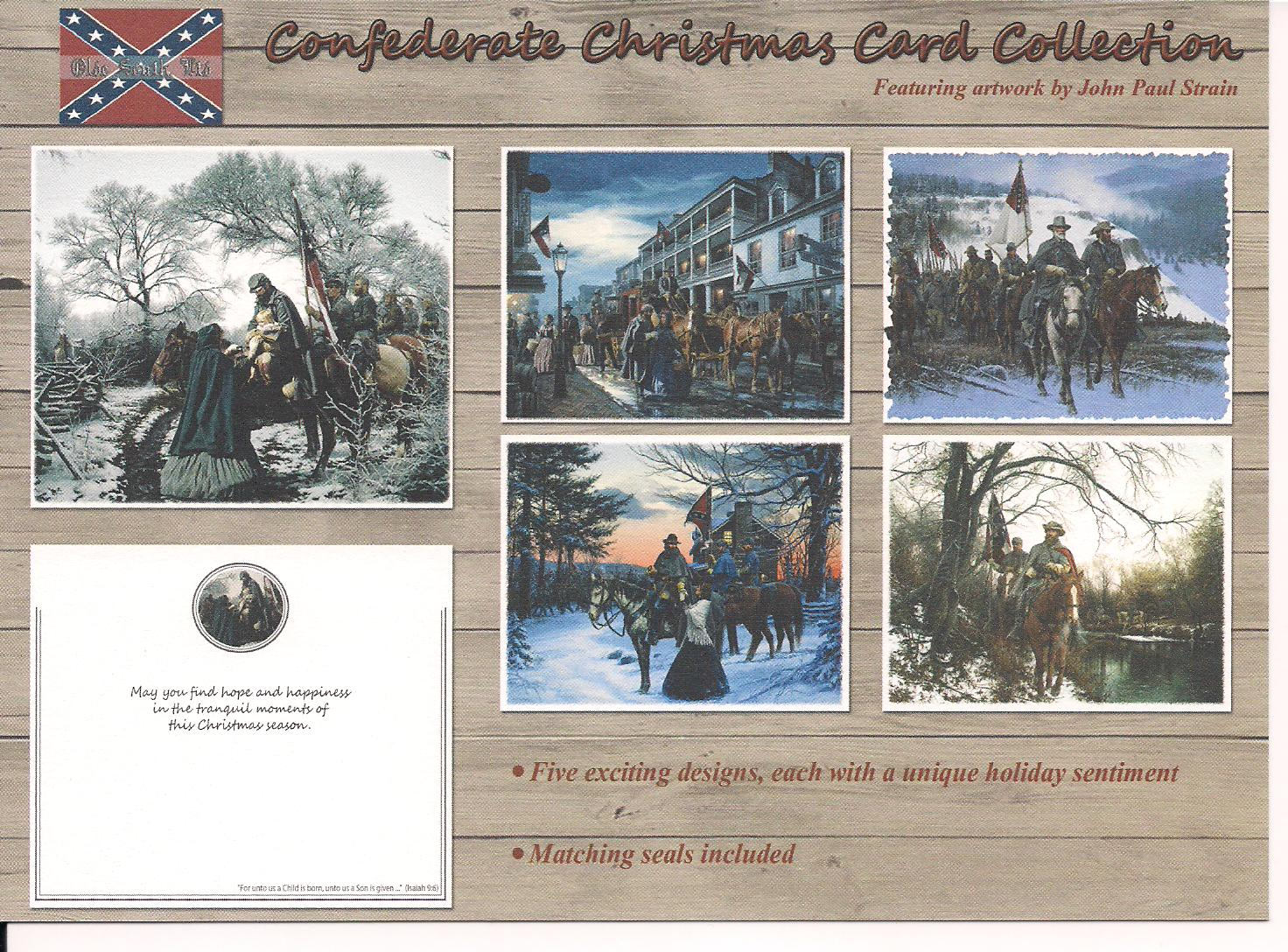 Confederate Christmas Card Collection 1995 Olde