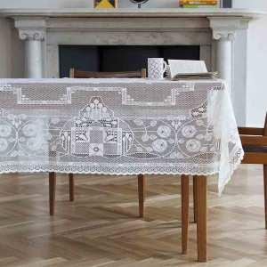 Rennie Cotton Lace Tablecloth