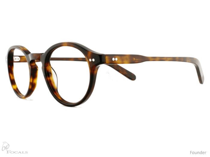 Old Focals Founder frame in tortoise shell - side view