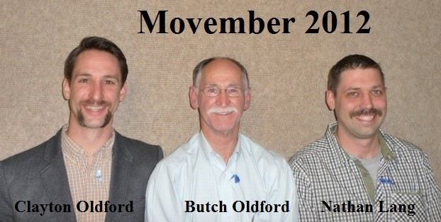 Movember Clayton Butch Nathan 2012