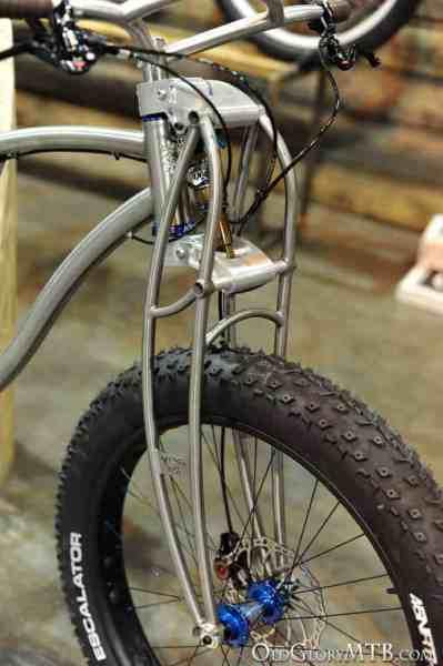 titanium truss style suspension fork
