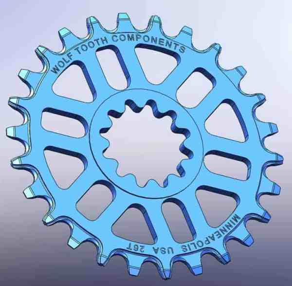 Middleburn spline direct mount chainring