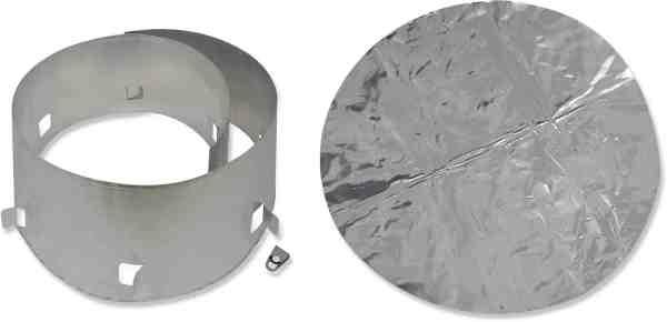 windscreen and heat shield