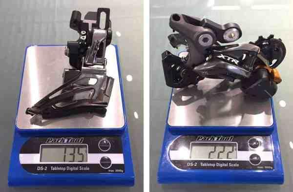 2015 Shimano XTR M9000 weights