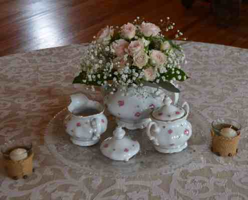 Tea Set Wedding Centerpieces