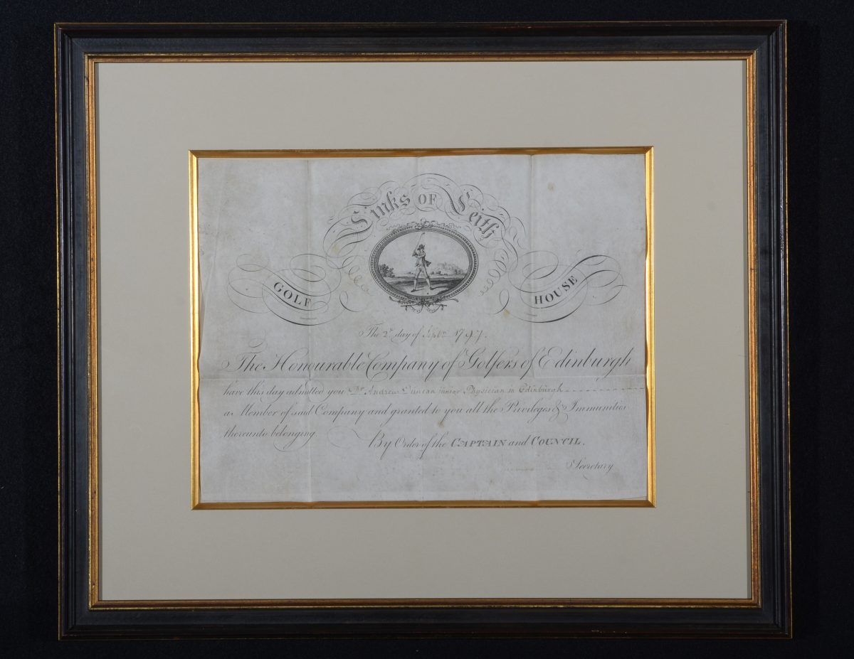 Honorable-Company-Membership-Certificate-1797-for-Andrew-Duncan-Jr-physican-in-Edinburgh-e1496272900607