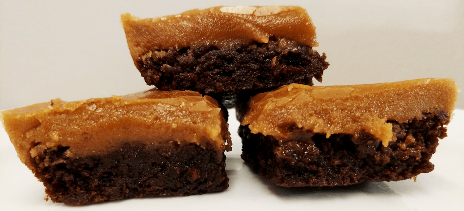 Scratch Brownies with Grandma's Milky Way Frosting